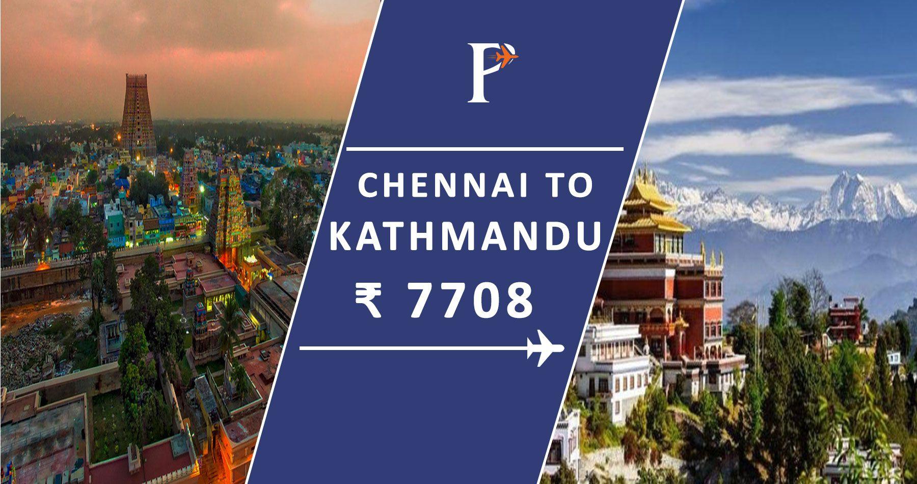 Flights from Chennai(MAA), India to Kathmandu(KTM