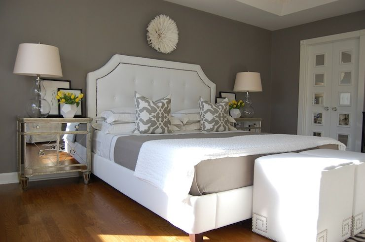 White And Gray Bedroom Features Etsy African House Pure