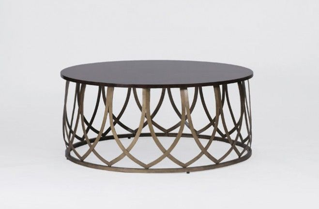 Jenkins Coffee Table Materials Cerajera Metal Finish Antique Brass - Coffee table depth