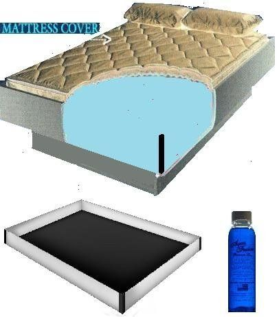 Super Single 48x84 2000 Zipper Waterbed Mattress Cover W 12 Mil Pro Max Water Bed Safety Liner 4oz Premium Clea