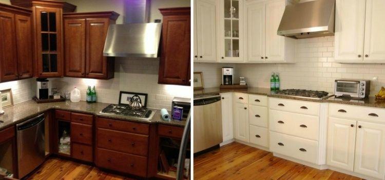 Rénovation cuisine 37 idées armoires et photos avant/après - alte küchenfronten erneuern