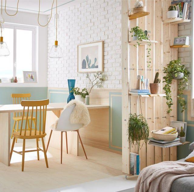 Cloison De Separation Polaris Sapin Bois Naturel En 2020 Cloison Separation Cloison Et Decoration Maison