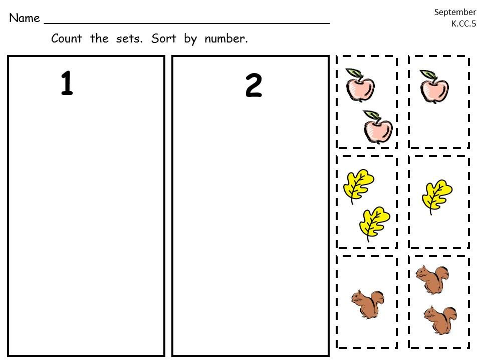 free kindergarten cut and paste common core math practice sampler kinderland collaborative. Black Bedroom Furniture Sets. Home Design Ideas