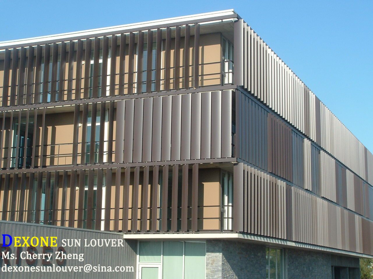 Sell Motorized Louvers Aluminum Facade Cladding Architecture Cladding