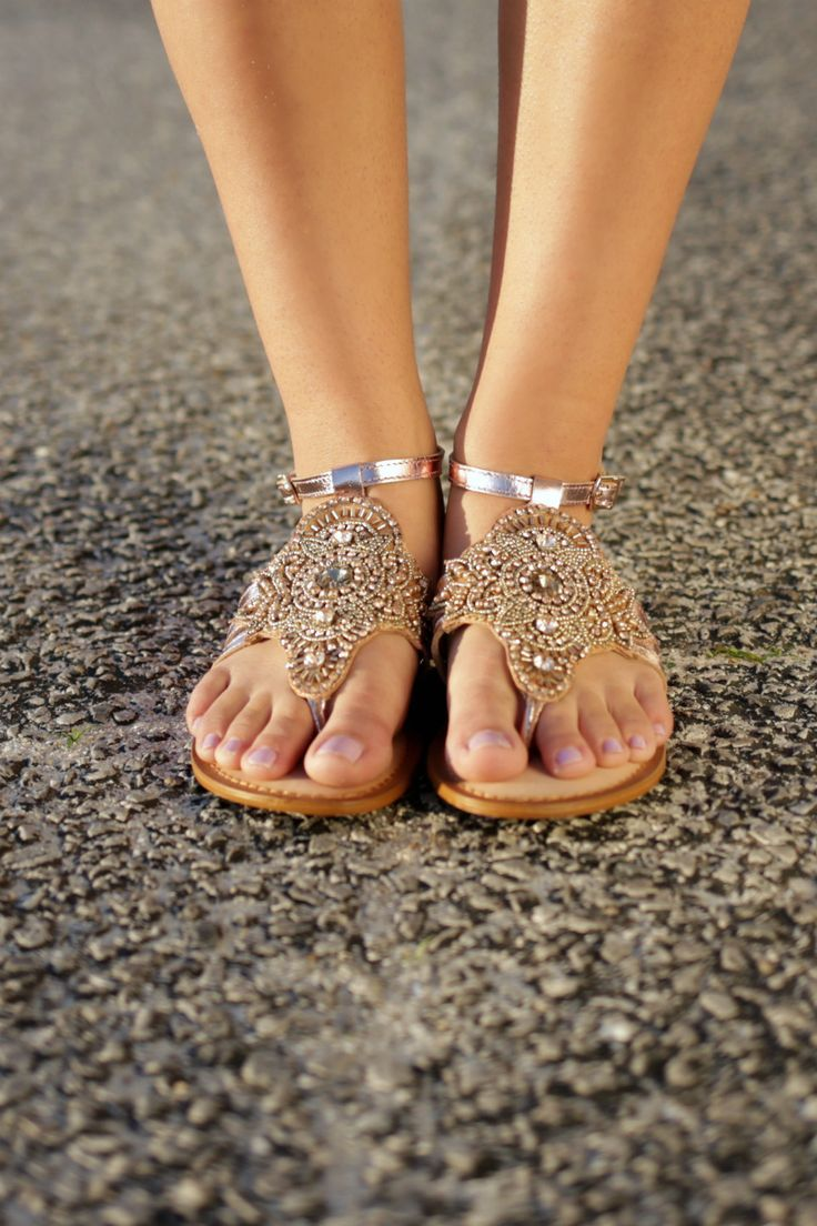 22ca02899529ca Image result for rose gold sandals beach
