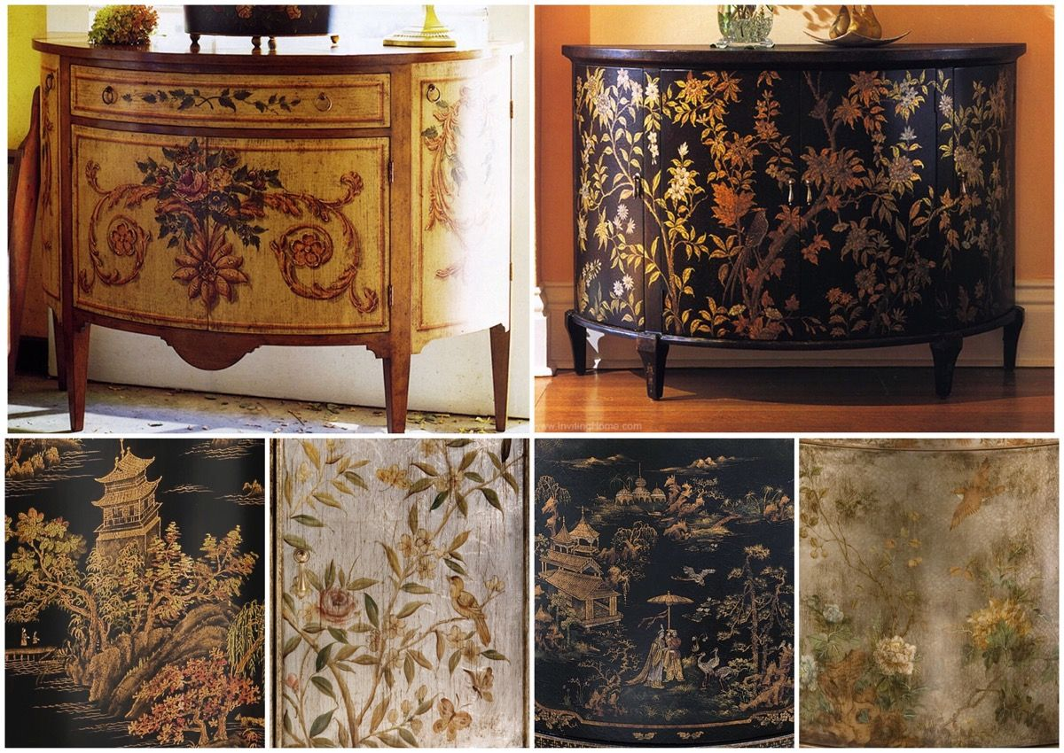 Amazing Hand Painted Furniture   Combining Utility With Hand Painted Cabinets