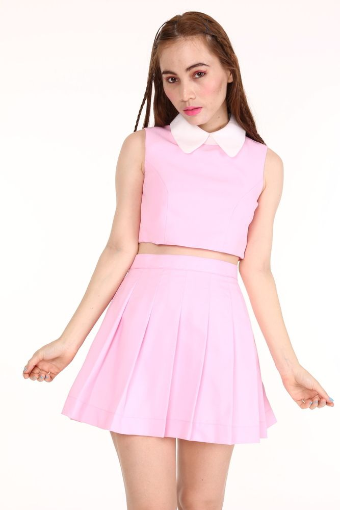 9959fe101 As if Sleeveless Set in Baby Pink
