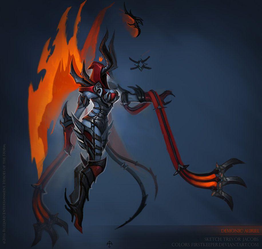 demonic auriel concept by
