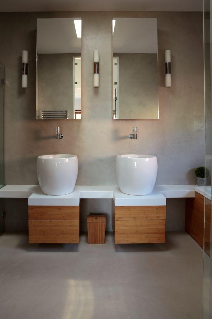 Béton ciré couleur Perle | Salles de bains en béton ciré | Salle de ...