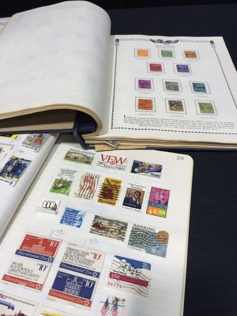 EXCELLENT COLLECTION OF USED AND UNUSED STAMPS IN ALBUMS PLUS ASSORTED STAMP SUPPLIES BOOKS