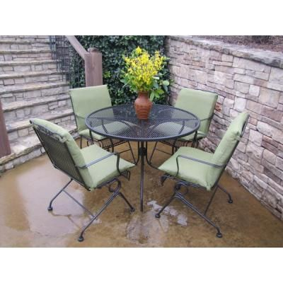 Arlington House Glenbrook Chocolate Brown 5 Piece Patio Dining Set
