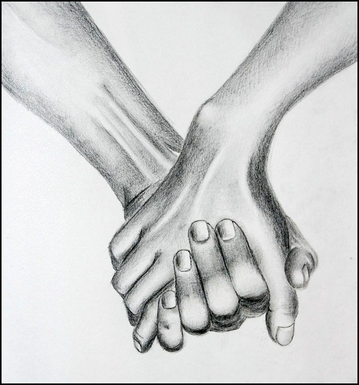 Pencil Drawings Of Hands Holding