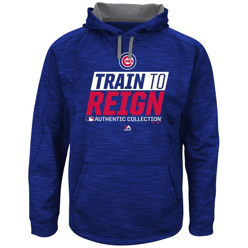 Chicago Cubs Majestic 2017 Spring Training Train to Reign Streak Hoodie - Royal