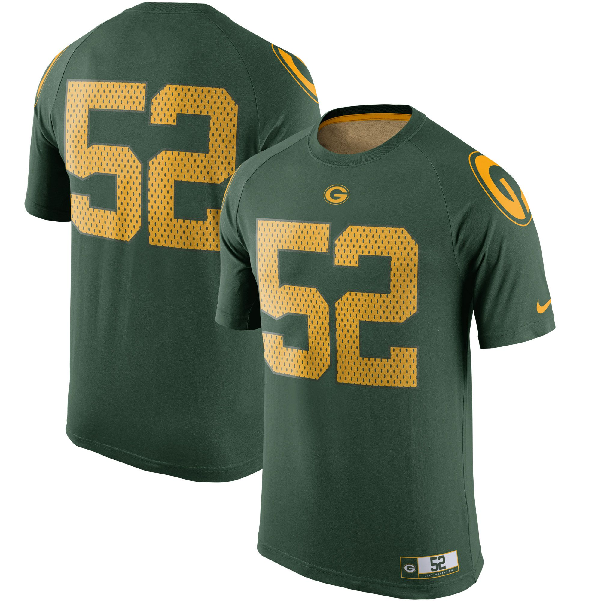 online store b425f 854d5 NFL Clay Matthews Green Bay Packers Nike New Day Name ...