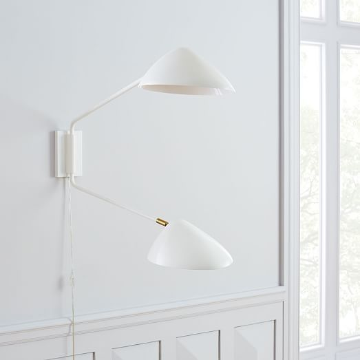 Curvilinear Mid-Century 2-Light Long Sconce | Sconces ...