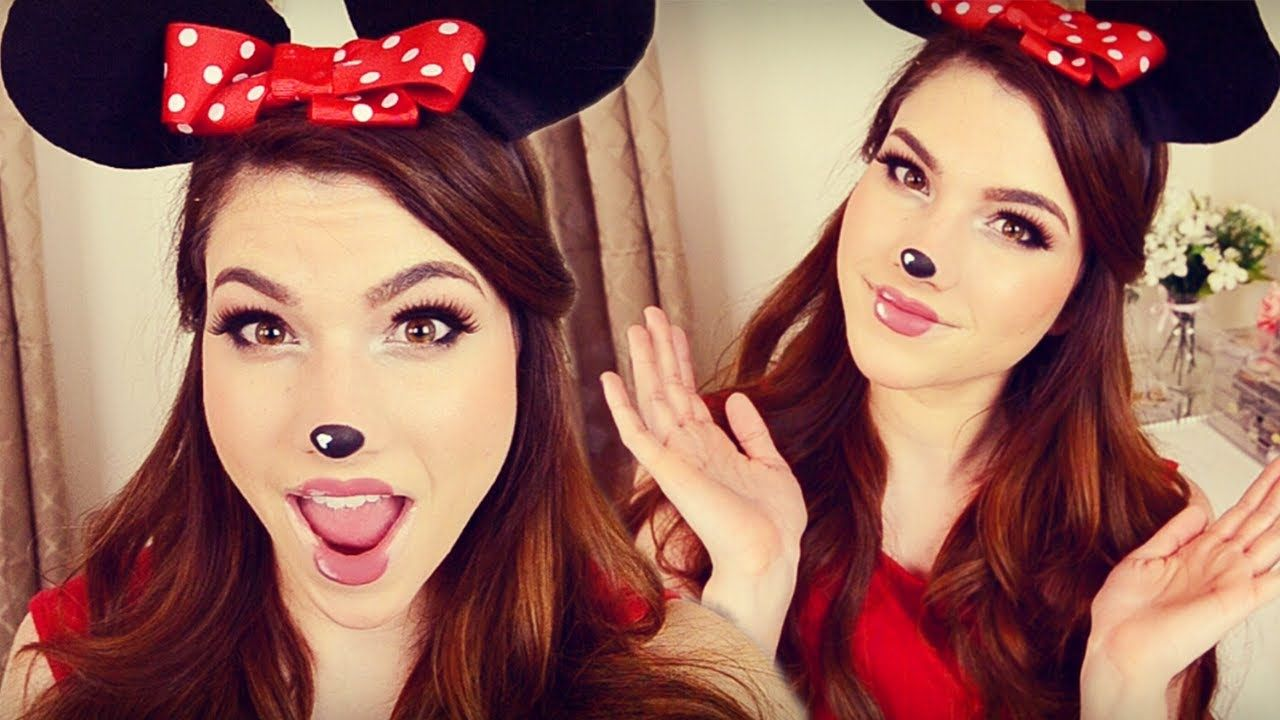 Minnie Mouse Makeup, Hair, & DIY Headband Ears I Halloween
