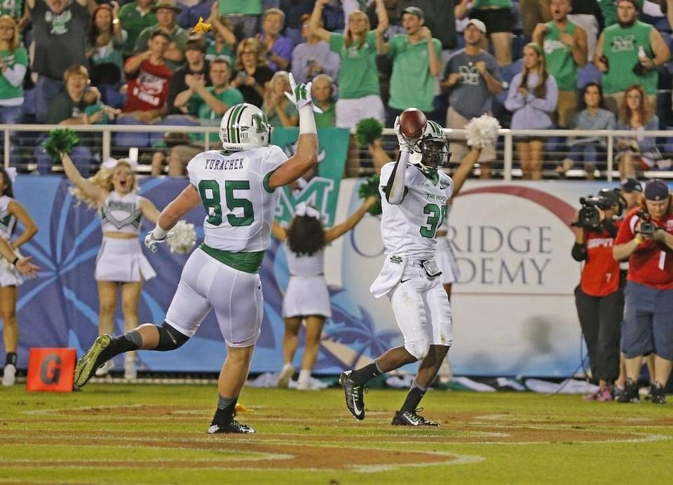 Marshall S Rakeem Cato With Teammate And Former Carolina Forest