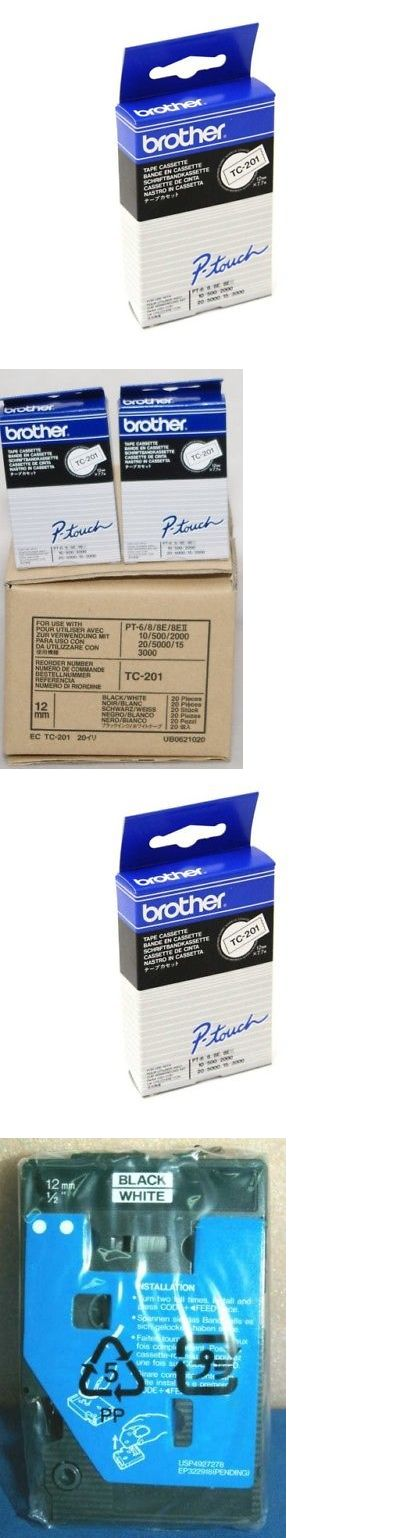 Brother TC201 TC-201 12mm //34096 M Ribbon Tape 20 pcs