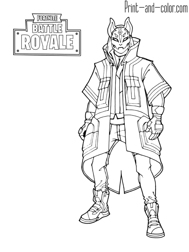 Fortnite Battle Royale Coloring Page Drift Max Level Caidens 6