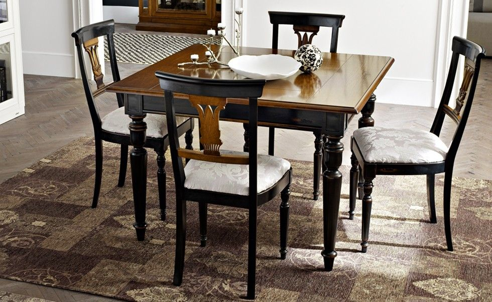 Cartesio   I Lauri | Classic Collections Le Fablier | Square Extendable  Table | Measures In