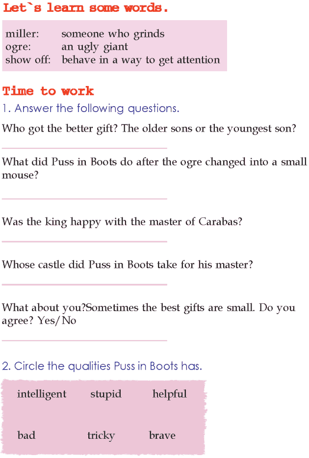 Grade 2 Reading Lesson 10 Fairy Tales - Puss In Boots (4) | Disney ...