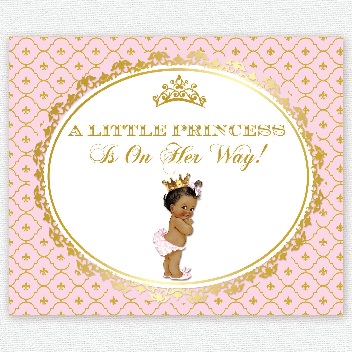pink and gold princess crown baby shower 1st birthday baptism