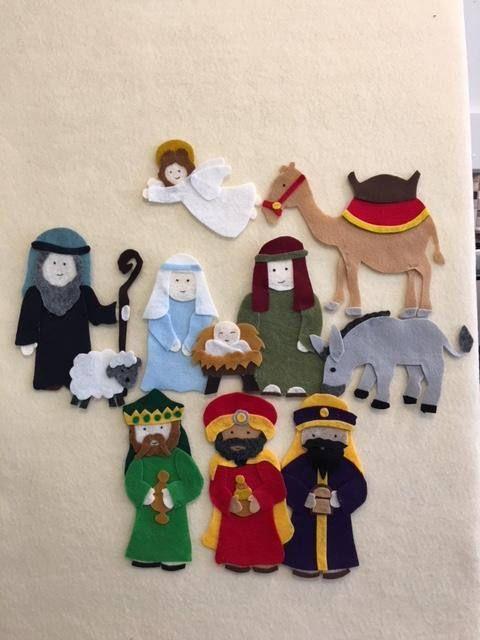 Nativity Christmas Story Baby Jesus In Manger Scene For Felt Etsy Felt Christmas Ornaments A Christmas Story Nativity Crafts