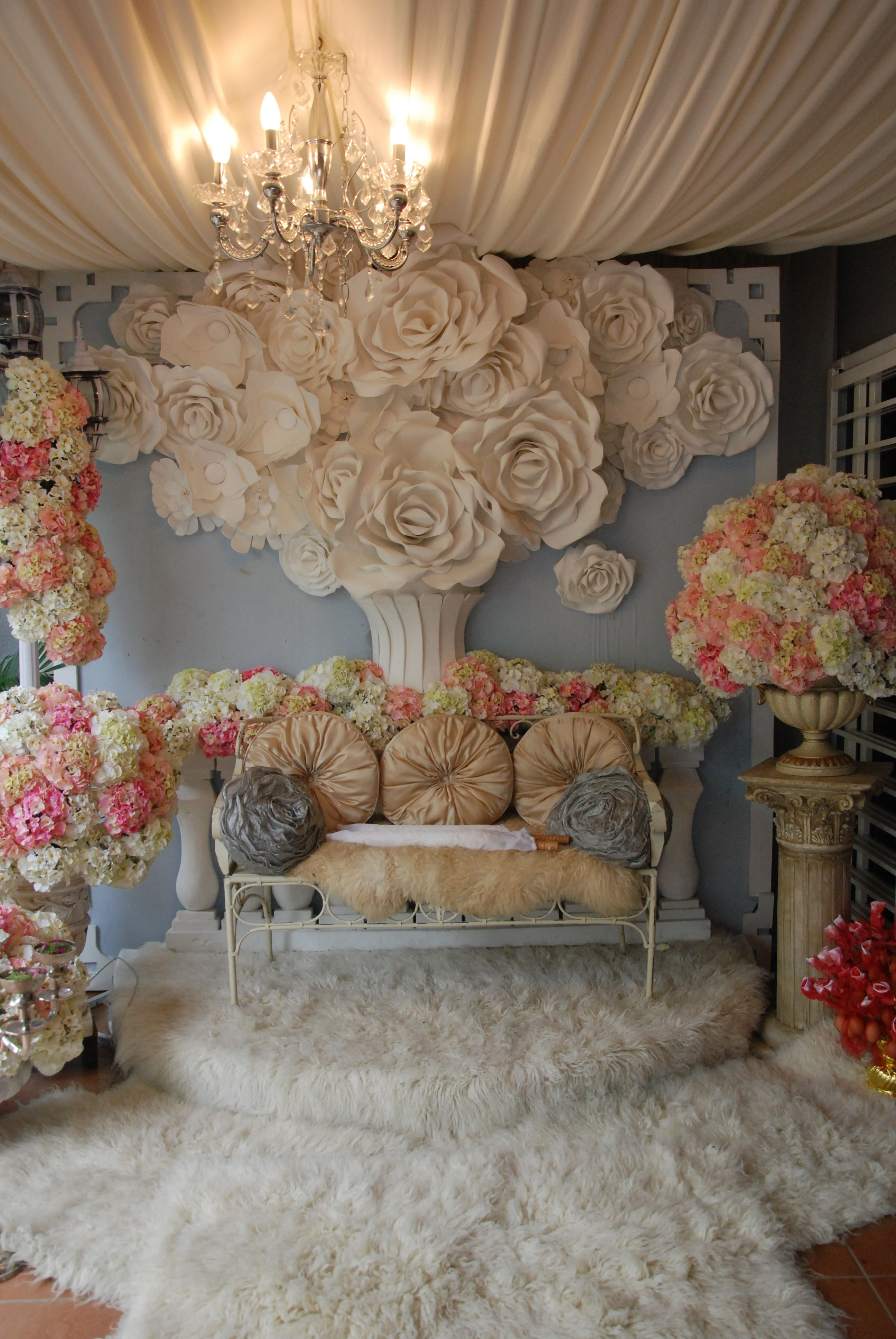 Unique wedding stage decoration ideas   floral work on this dscg   Photo