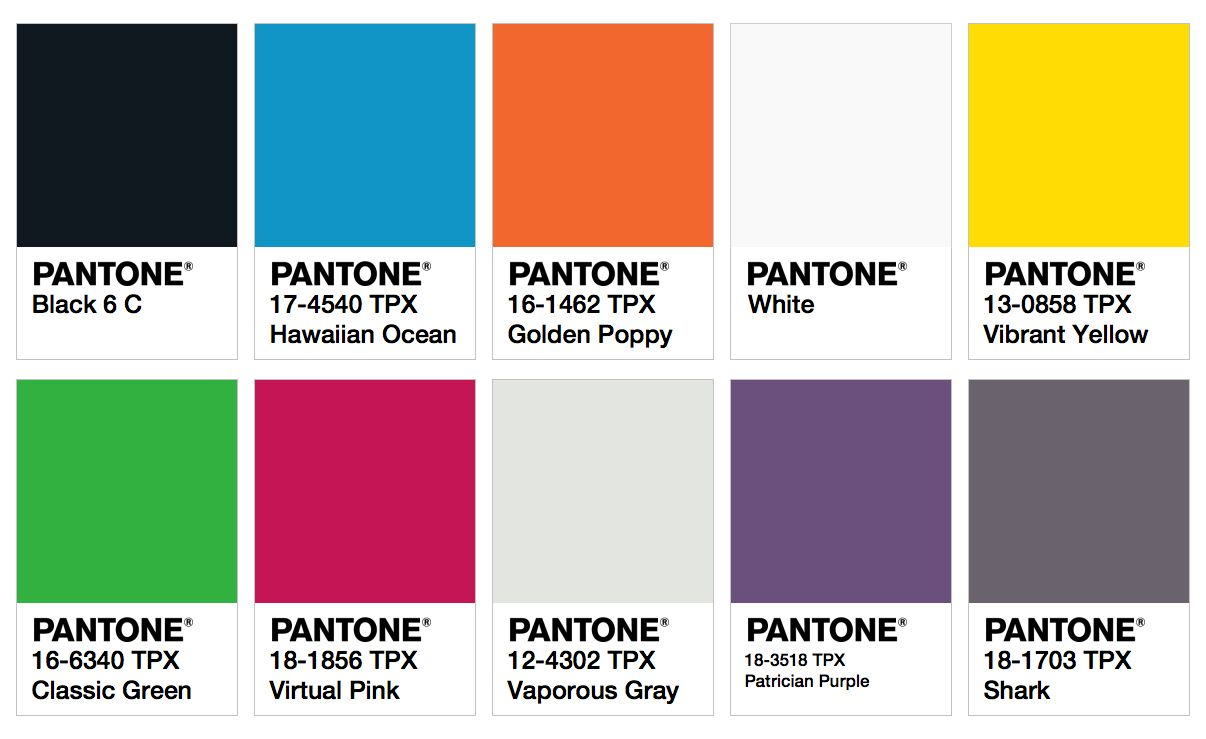 Ispo color palette fall winter 2017 2018 fw 17 18 for Pantone 2017 2018