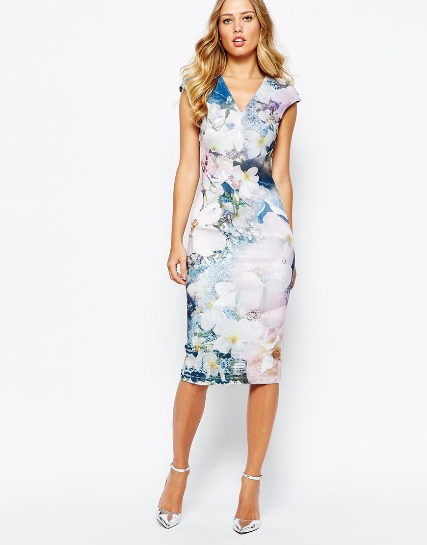 f90b6752e950cc Image 4 of Ted Baker Amily Floral Geo Bodycon Dress
