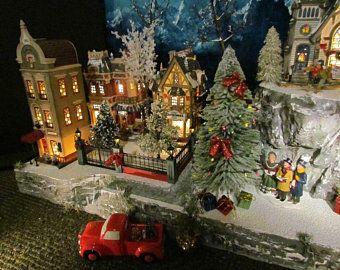 Christmas Village Collections.Vs Brick Wall Christmas Building Village Display Dept 56