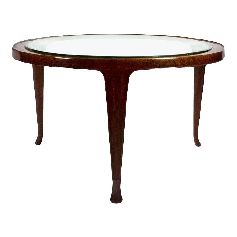 1948 Large Tripod Coffee Table Attributed To Guglielmo Ulrich Mahogany Italy Coffee Table Mid Century Coffee Table Pretty Coffee Table