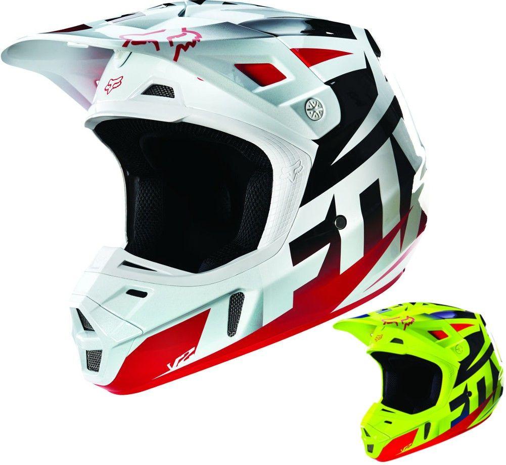 Fox Racing V2 Race Mens Motocross Helmets Motocross Helmets Motocross Motocross Bikes