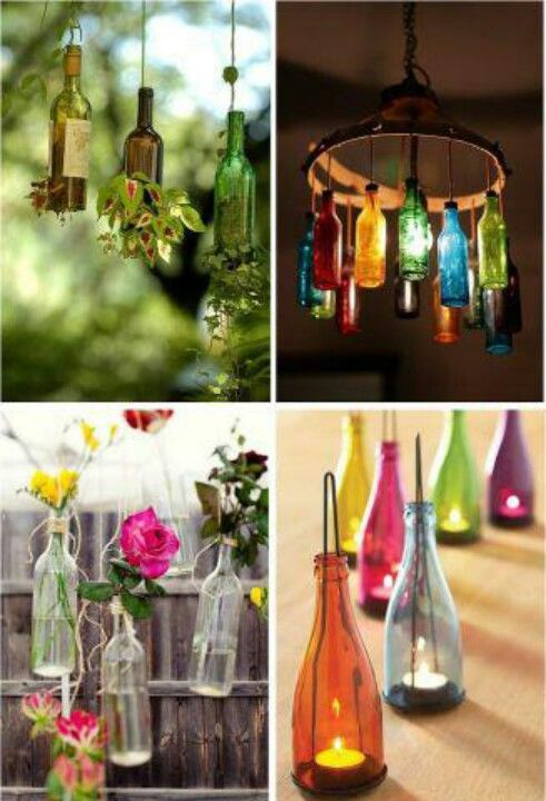 Diy lighting with reused glass bottles indoor and outdoor ideas diy lighting with reused glass bottles indoor and outdoor ideas solutioingenieria Image collections