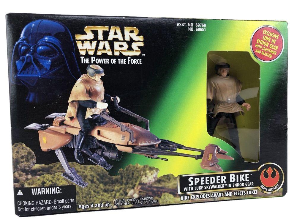 Great Birthday Cake Topper Star Wars POTF 1995  Luke Skywalker In Endor Speeder Bike Gear Loose Action Figure  Missing Brown Poncho