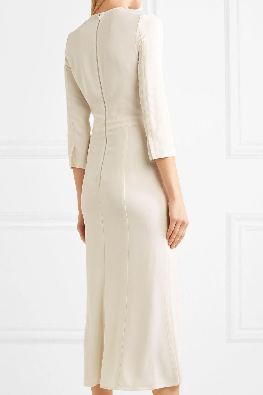 Victoria Beckham Paneled Cotton Jersey Midi Dress Net A Porter Com Victoria Dress Dresses Victoria Beckham [ 1380 x 920 Pixel ]