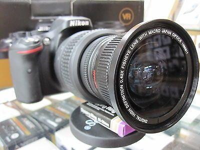 52mm Fisheye Telephoto /& Wide Angle Top Lens Accessory Kit for NIKON D3300 D3200 D3100 D5500 D5300 D5200 D5100 Cameras