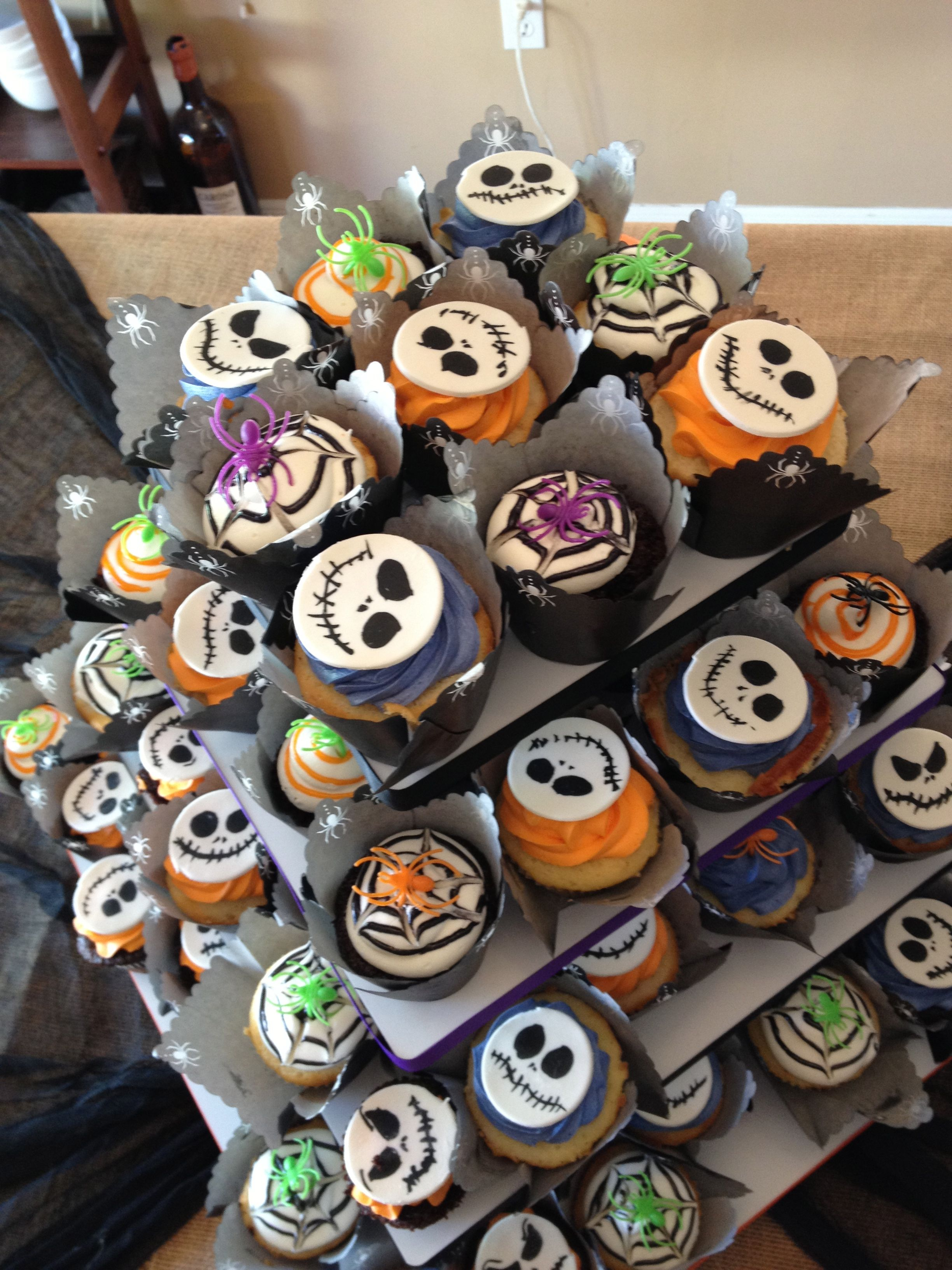 Jack Skellington and Halloween assorted cupcakes I made for my ...