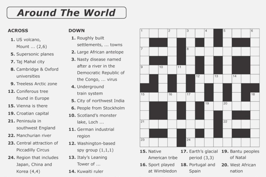 Crossword Puzzles for Adults | Free printable crossword puzzles, Printable  crossword puzzles, Crossword puzzles