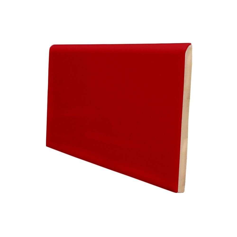 US Ceramic Tile Color Collection 3 in x 6 in Bright Red Pepper