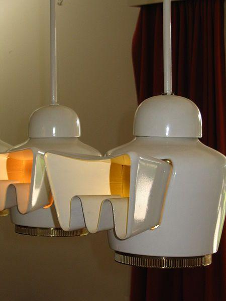 1956-60 Alvar Aalto Lampes de la salle à manger Maison Louis - salle a manger louis