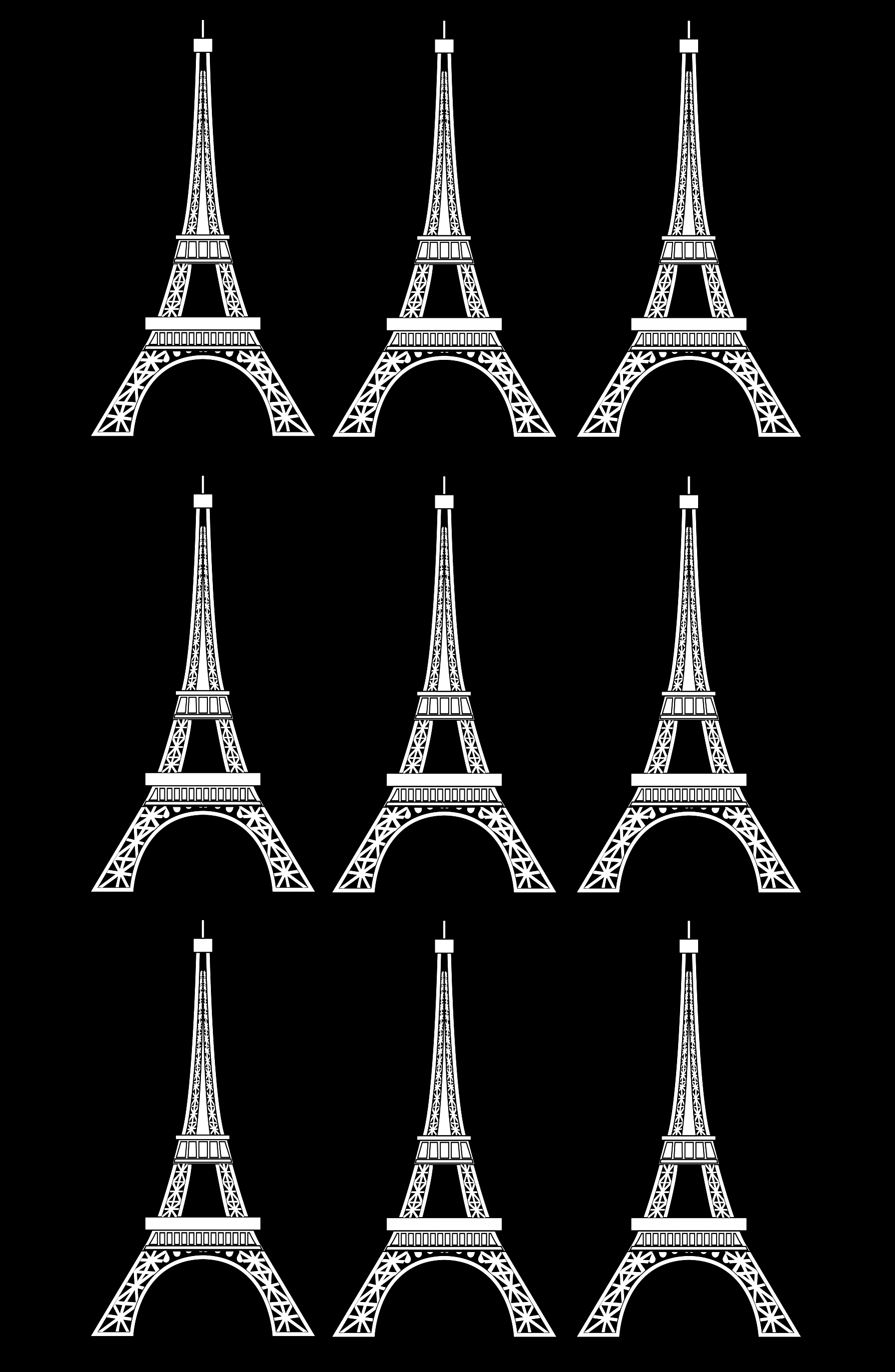 The famous Eiffel Tower Paris Coloring Pages for Adults