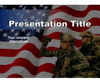 awesome military powerpoint template with us soldiers and us flag it