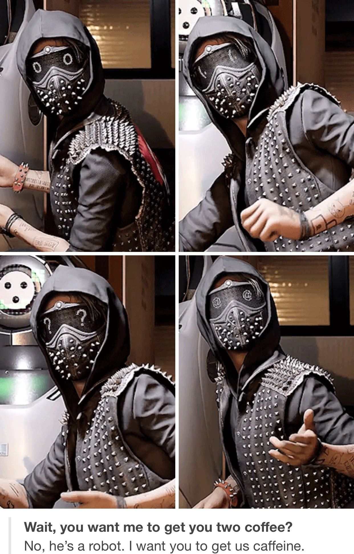 Watch Dogs  Why Does Wrench Wear A Mask