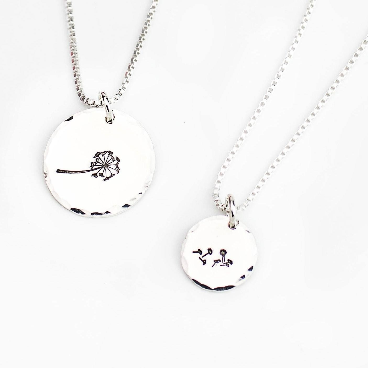 Mother and child necklace sets sterling silver products