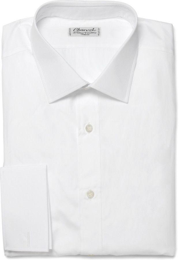 White Dress Shirt by Charvet. Buy for $515 from MR PORTER