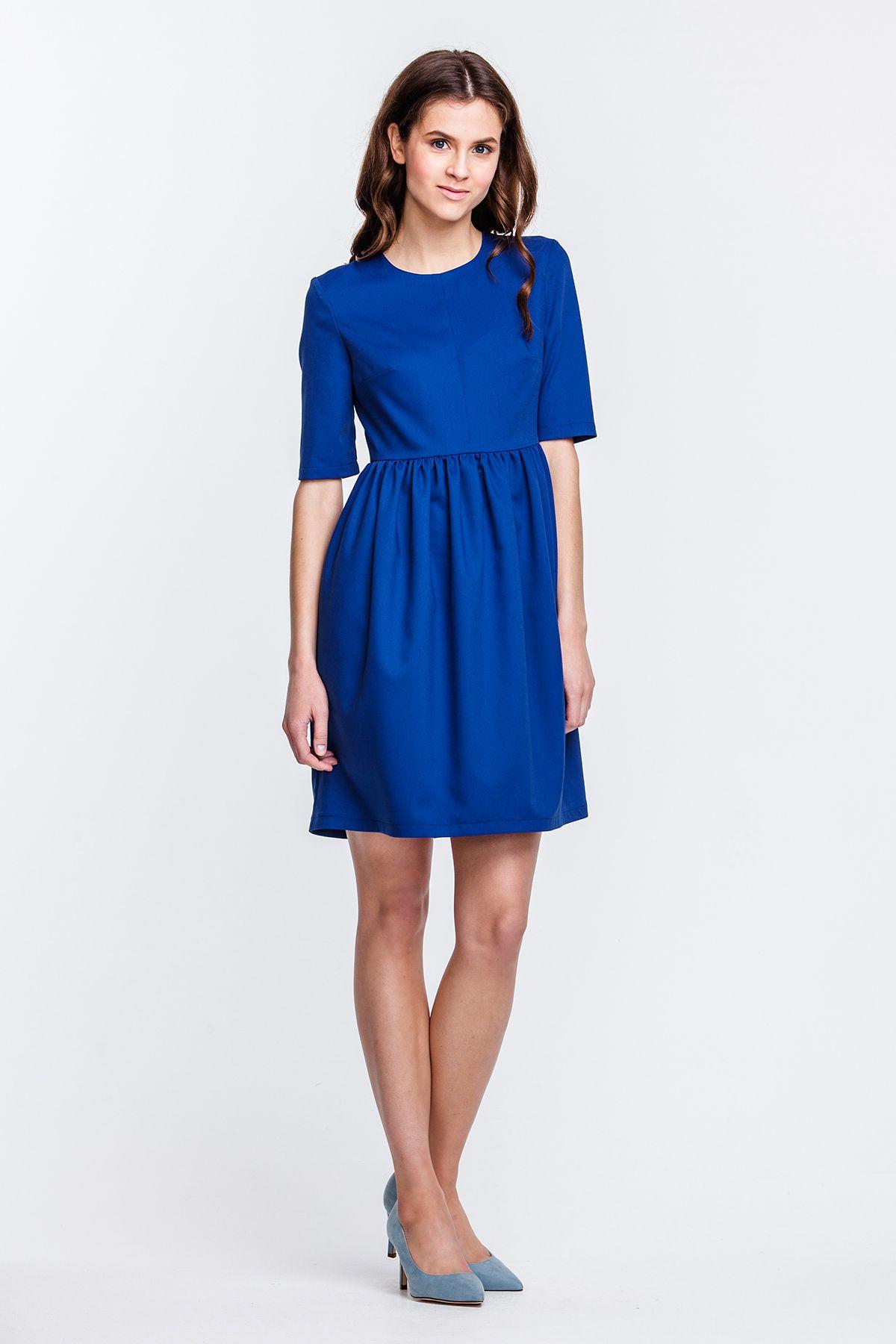 6098bd33c674c19 2347 Платье мини синее, юбка-тюльпан купить в Украине, цена в каталоге  интернет