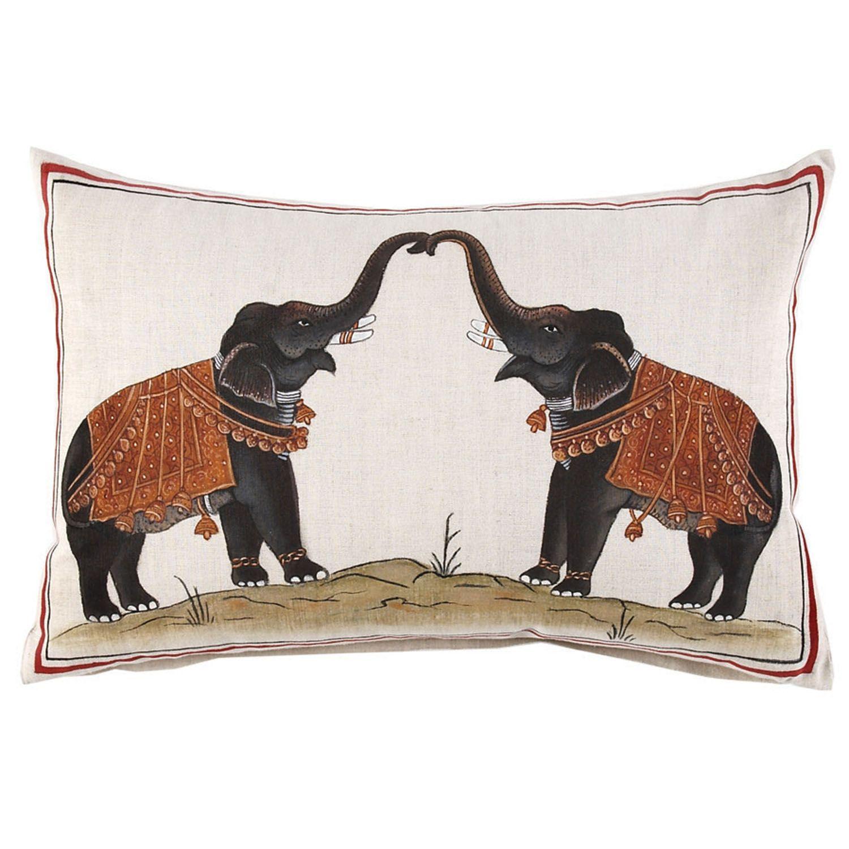 Two Elephants Decorative Pillow 140 Almofadas Apliques Decoração