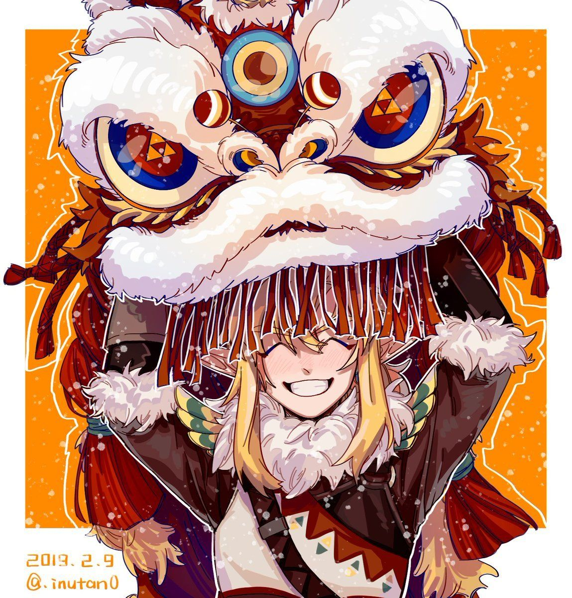 A Bit Late But Happy Chinese New Year Linkiscute Legend Of Zelda Legend Of Zelda Breath Zelda Funny