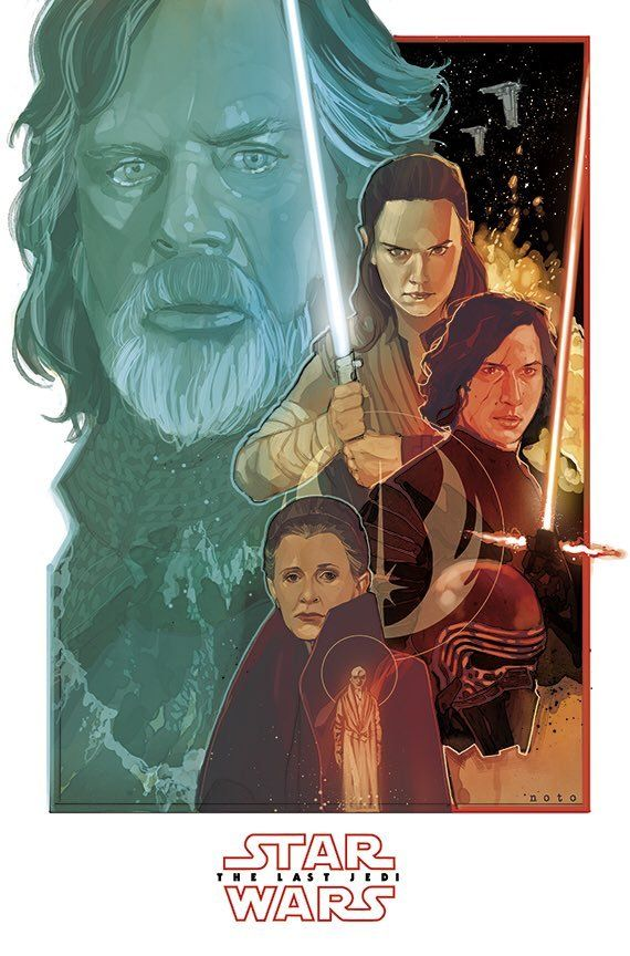And with a great trailer, comes great fan art!!! I knew it was coming, just didn't expect it so quickly, thanks as always to the amazing @philnoto for this killer poster!!! 801 Days until Episode...